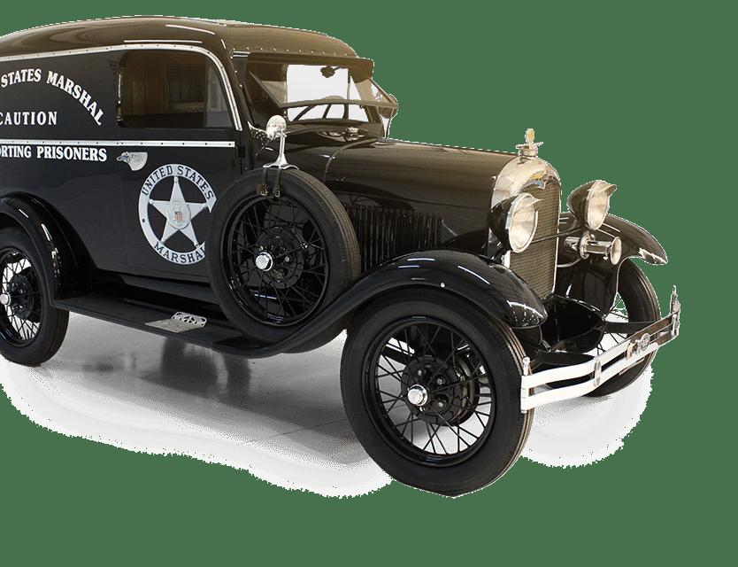 Carro de polícia antigo - Movie Cars Entertainment