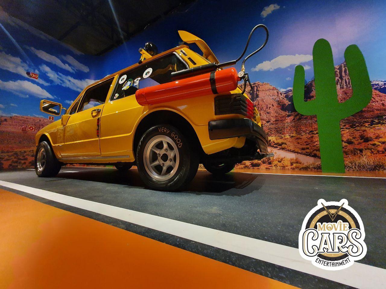 Senário do Movie Cars Entertainment com a brasilia amarela dos Mamonas Assassinas