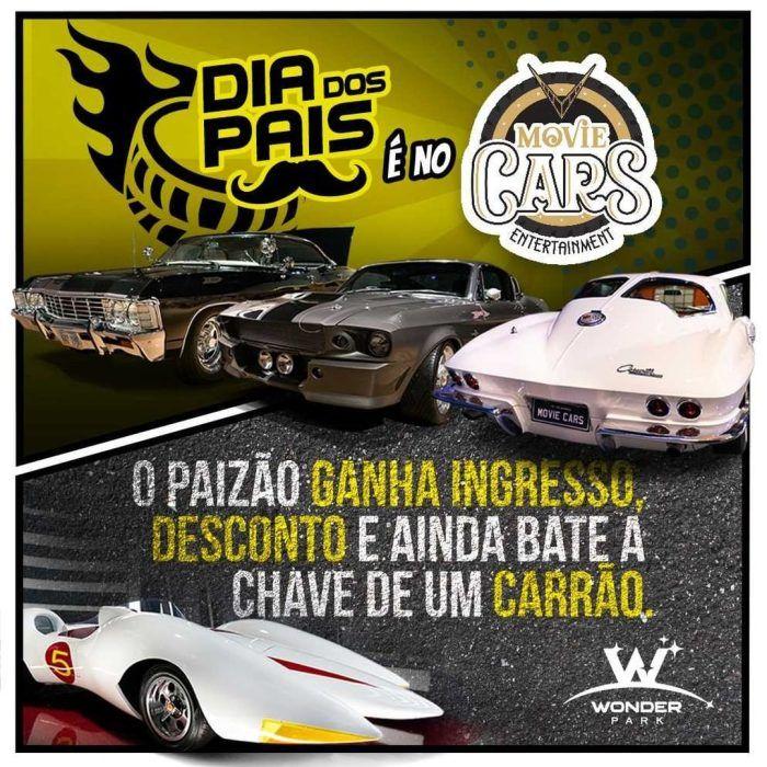 Parque temático Movie Cars traz promoção exclusiva no Dia dos Pais