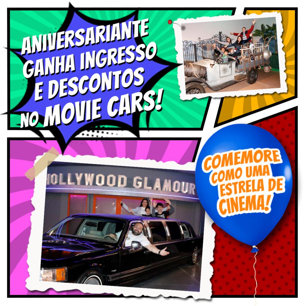 arte comemore seu aniversario no Movie Cars